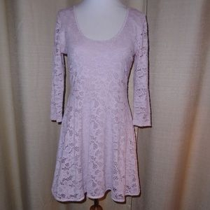 FREE PEOPLE BALLET PINK LACE DRESS ~ S ~ SUMMER!!!